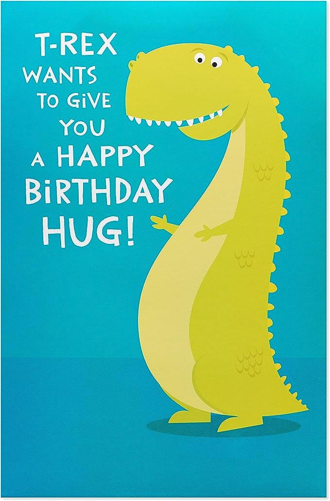 ORIGAMI POP CARDS Super Cool T-Rex Dinosaur 3D Pop Up Greeting Card BIRTHDAY Fun