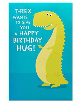 American Greetings Funny T Rex Birthday Card With Pop Up