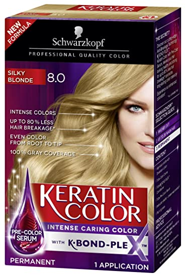 Amazon Schwarzkopf Keratin Color Anti Age Hair Color Cream 80