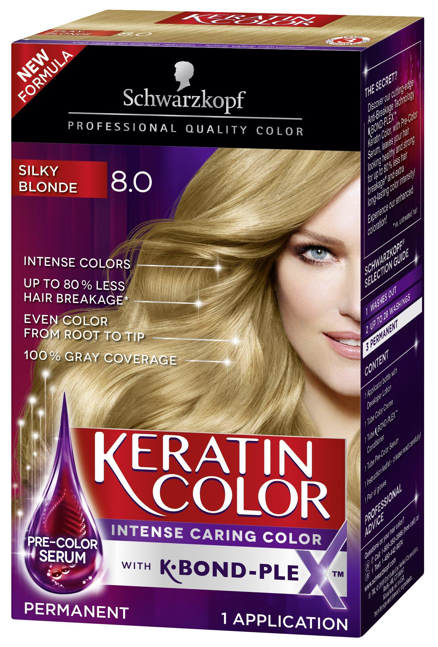 Amazon Schwarzkopf Keratin Color Anti Age Hair Color Cream 75