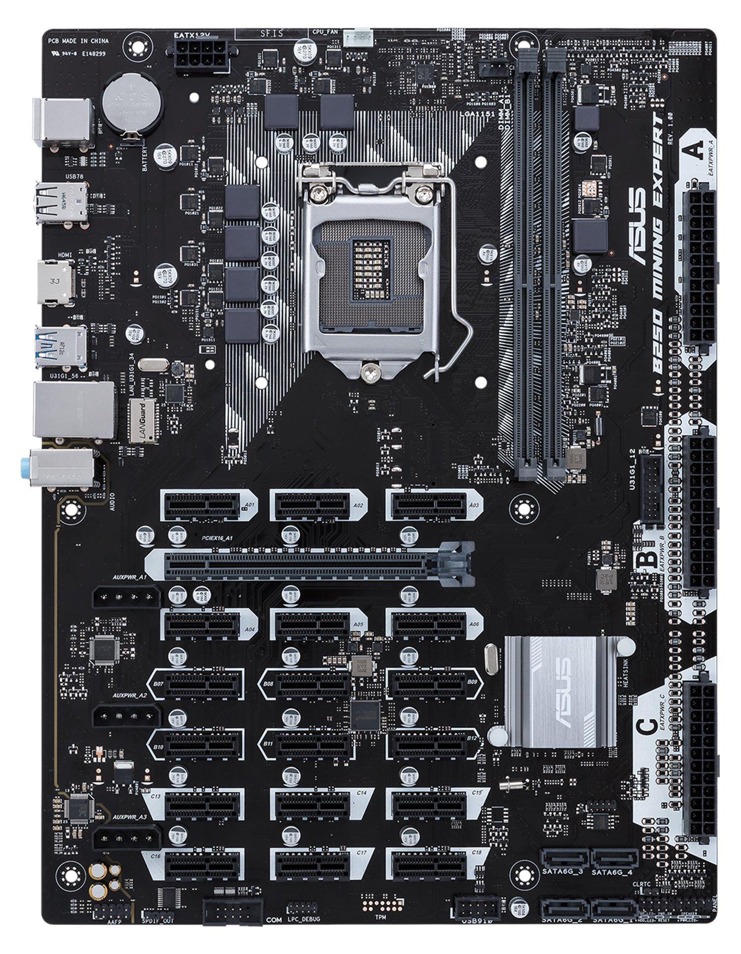 Motherboard Para Mineria De Bitcoin Asus B250 Lga1151 Ddr4