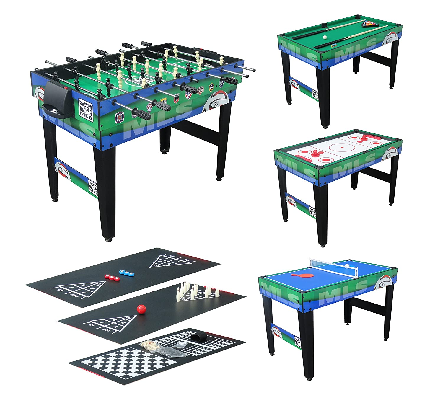 Triumph Sports USA 48 Inch MLS 10 In 1 Combo Table Foosball, Foosball Tables    Amazon Canada