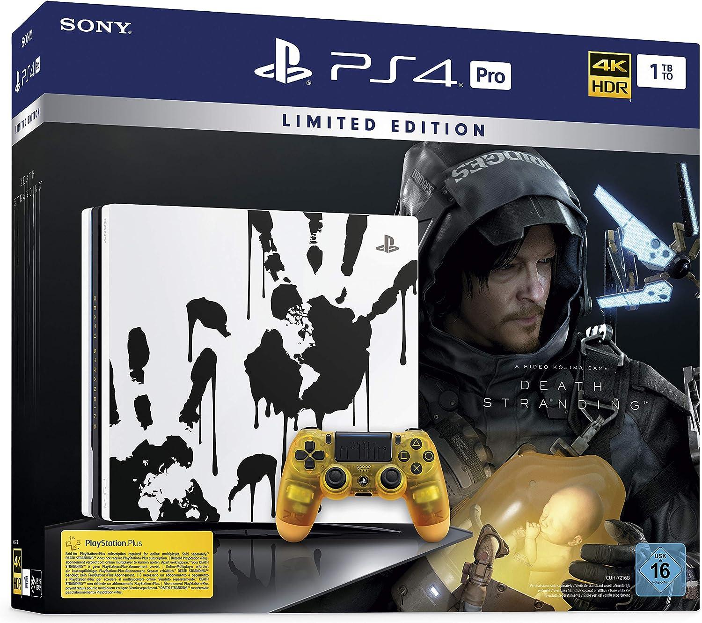 PlayStation 4 Pro Death Stranding Limited Edition - Konsole (1TB, schwarz, Pro) [Importación alemana]: Amazon.es: Videojuegos