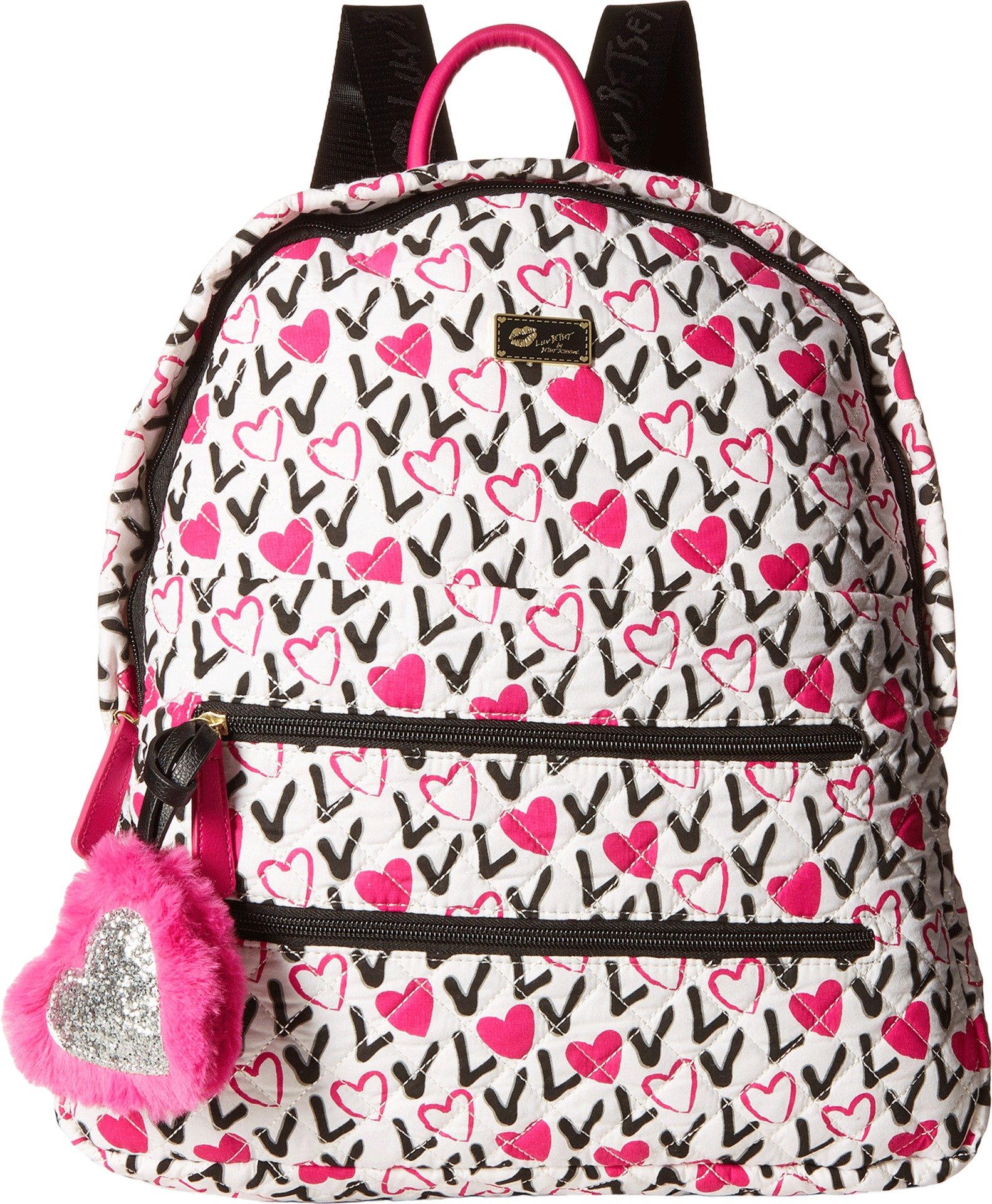 Luv Betsey Women's Bexxx Cotton Backpack Love Pink-Az One Size