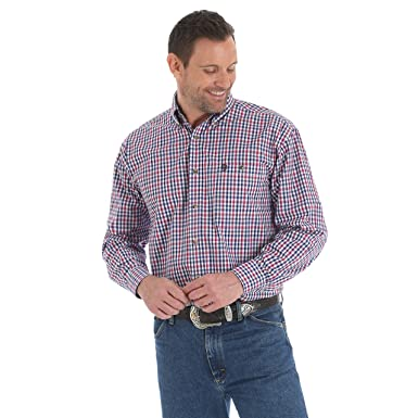 0003c3d5 Wrangler Men's George Strait Big and Tall Long Sleeve, One Pocket,  Button-Down
