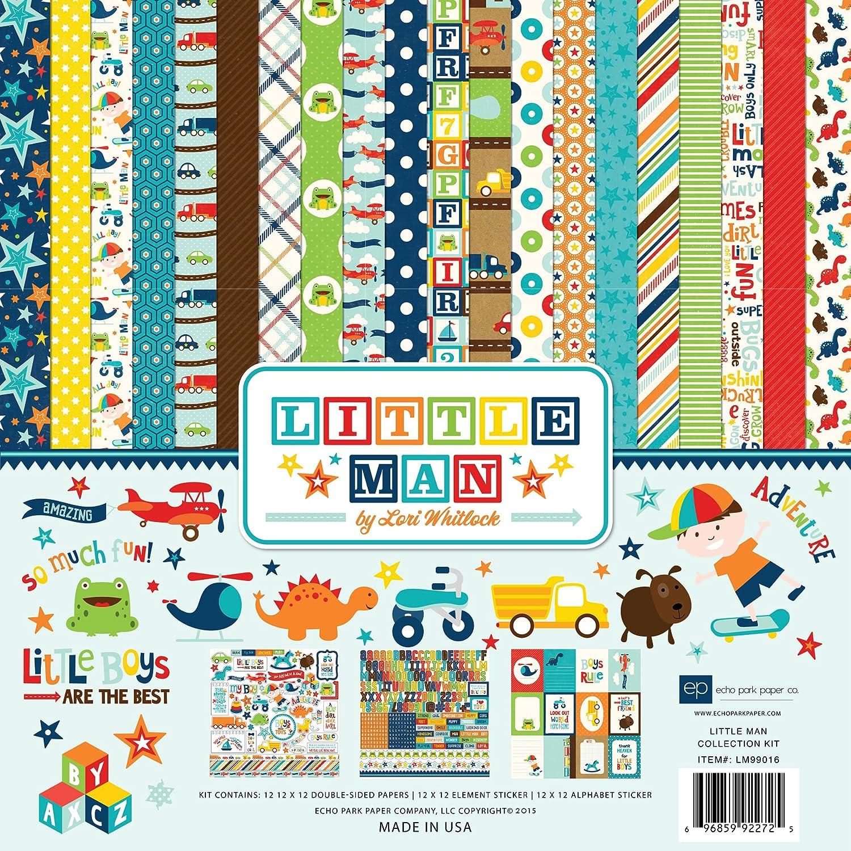 Baby scrapbook ideas uk - Echo Park Paper Echo Park Collection Kit 12 Inch X 12 Inch Little Man