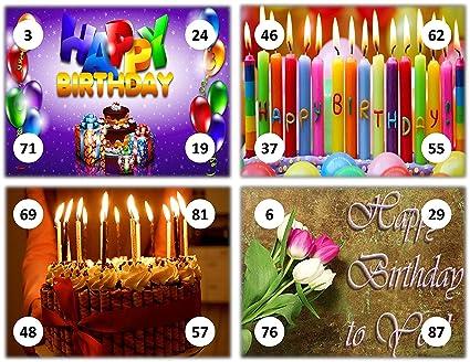 Feliz Happy Birthday Theme Tambola Tickets Set of 16 (housie Tickets)