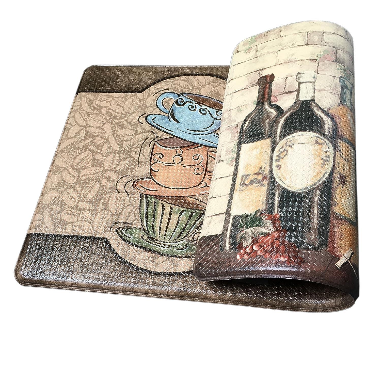 Memory Foam Kitchen Rugs: Art3d Premium Reversible Memory Foam Kitchen Mat