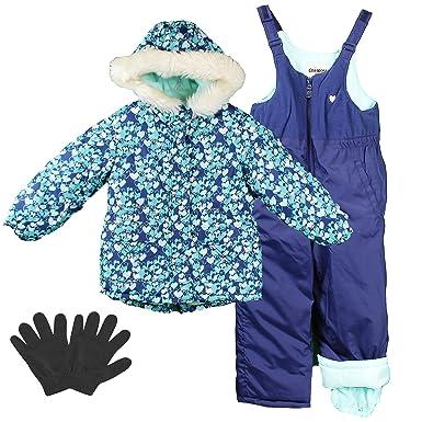 94529c595 Amazon.com  OshKosh Girls 2-6X Heavy Winter Jacket and Snow Pants ...