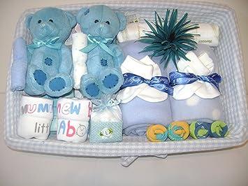 Deluxe Twin Baby Jungen Geschenk Korb Gorgeous Geschenk Fur Junge