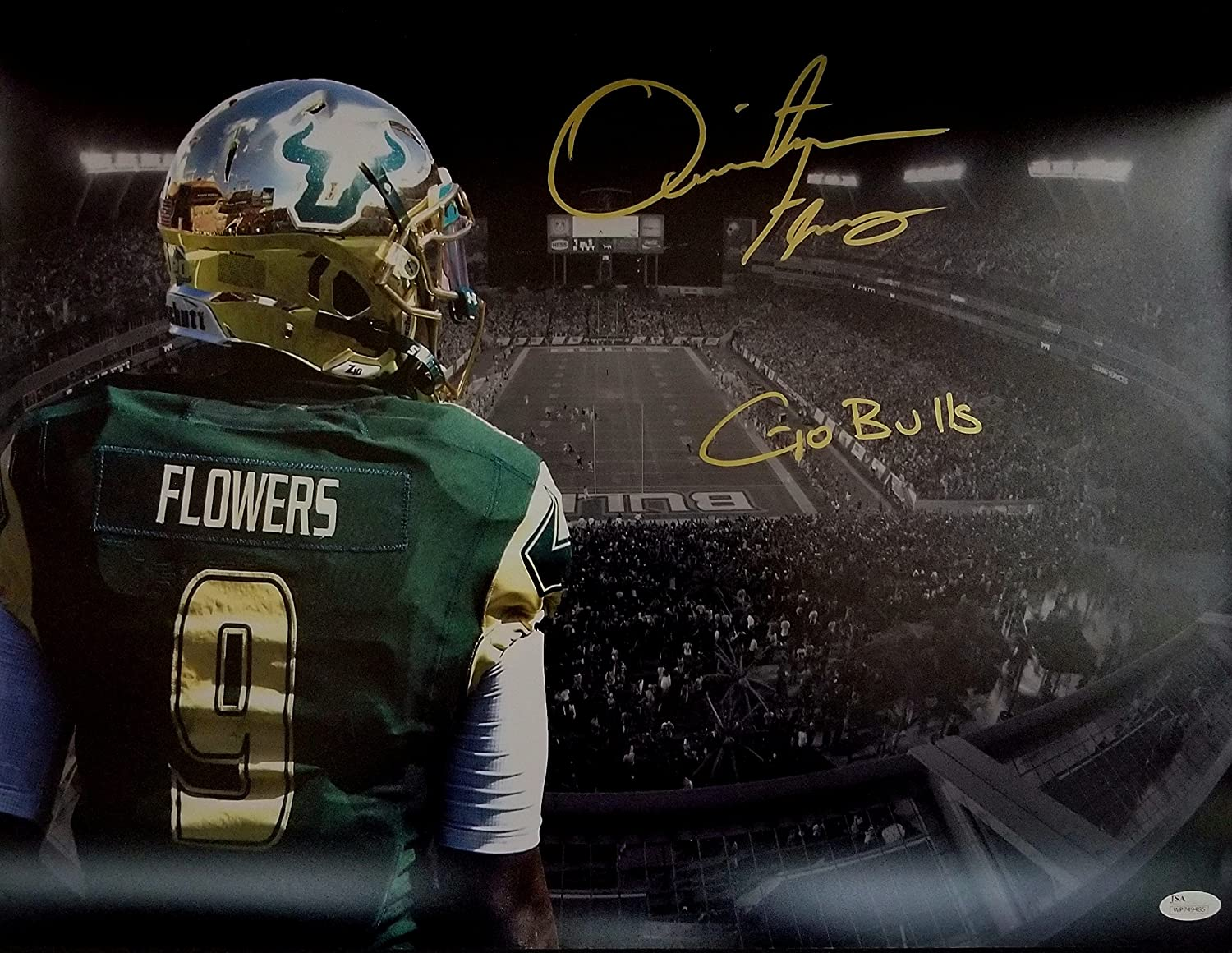 Amazon.com  Quinton Flowers Signed Autographed 16x20 USF South Florida  Bulls JSA  Sports Collectibles 63cd59a3a
