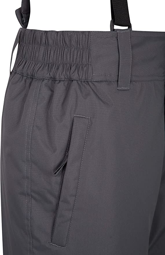 girovita Elasticizzato Ideale Indumento da Sci Nero X-Small Mountain Warehouse Dusk Pantaloni da Sci Uomo Due Tasche