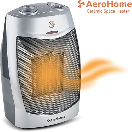 KEYS Electric Fan Heater,1500W//750W Portable Fan Heater with Tip-Over and Overheat Protection 2s heat up for Home Office Use.