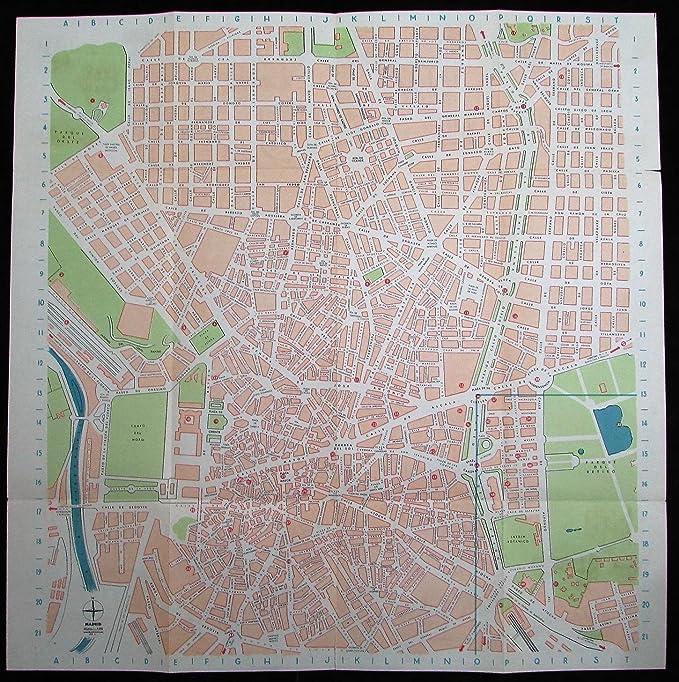 Amazon.com: Madrid Spain city map plan c.1930-50s lot of 3 large folding ads views cartoon: Entertainment Collectibles
