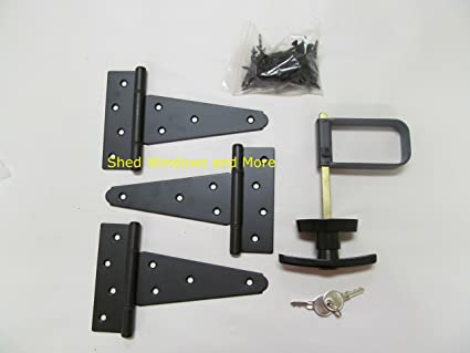Gentil Single Door Hardware Kit 5u0026quot; Strap T Hinge, T Handle, Heavy Duty Barrel