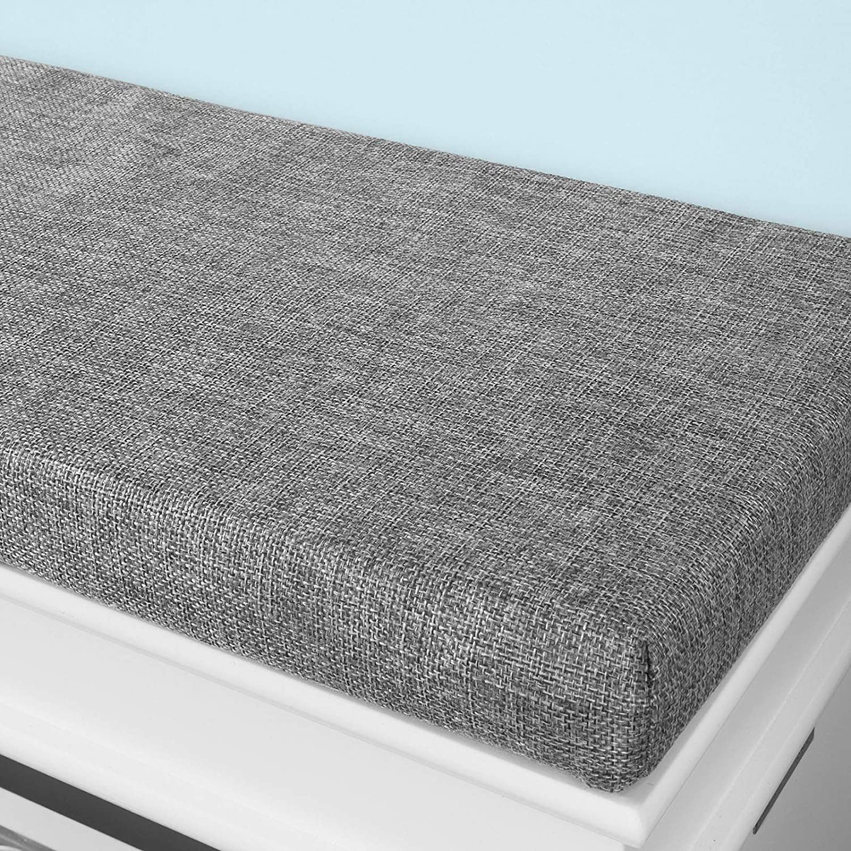 SoBuy FSR64-W Schuhkipper Sitzkommode Sitzbank mit Sitzkissen Schuhbank mit 2 Klappen Wei/ß BHT ca. 104x52x24cm