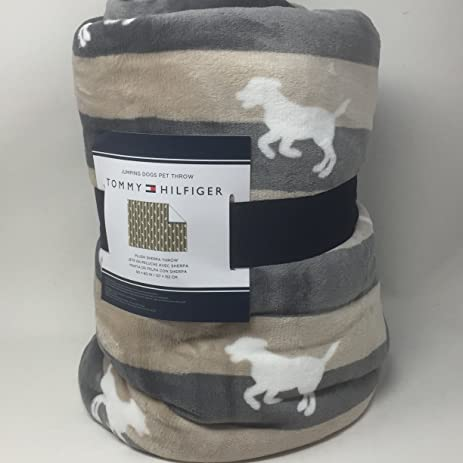 Excellent Amazon.com: Tommy Hilfiger Micromink Plush Throw Blanket - Tan and  MJ13