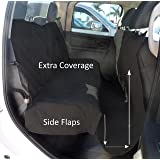 Deluxe Quilted and Padded Dog Car Seat Cover with Comfort Fabric and Non-Slip Back Best for Car Truck and SUV - Make Travel With Your Pet Always an Option - 3 Sizes and Colors (Black, Grey, Taupe)