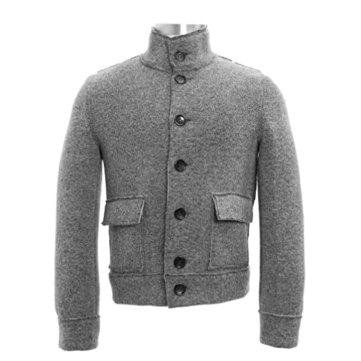 78e086c60fa7b MANUEL RITZ Wool Blend Jacket Heather Gray at Amazon Men s Clothing store