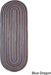 product image for Rhody Rug Augusta Braided Wool Runner Rug (2' x 8') Blue