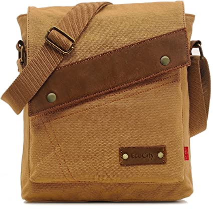 063425ce0503 Image Unavailable. Image not available for. Color  UIUIUS Vintage Small  Canvas Messenger Bags ...