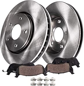 Detroit Axle - Front Premium Disc Brake Kit Rotors w/Ceramic Pads w/Hardware for [2006-2013 Chevy Impala] - 2006-2007 Monte Carlo (NO POLICE TAXI MODELS)