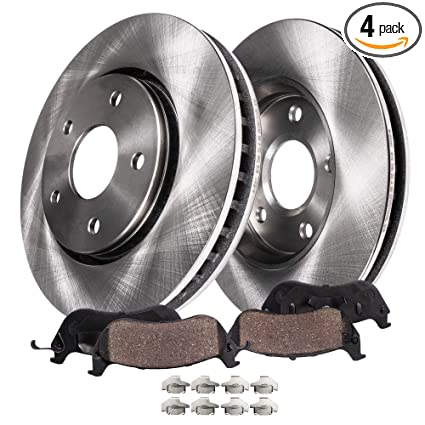Detroit Axle - Front Brake Rotors & Ceramic Pads w/Clips Hardware Kit  Premium GRADE for 07-18 Escalade, ESV, Chevy Tahoe, GMC Yukon - [08-18