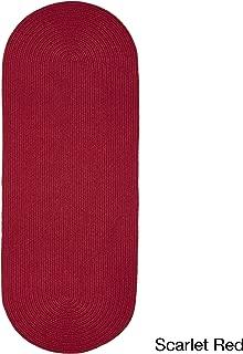 product image for Rhody Rug Woolux Wool Runner Braided Rug (2' x 6') - 2' x 6' Runner Scarlet