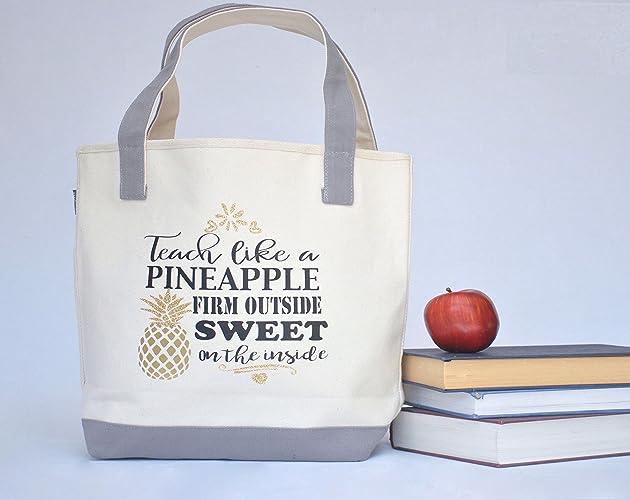 Amazon Com Teacher Tote Bag Personalized Teacher Tote Bag