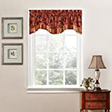 Traditions by Waverly 14312052016CRI Navarra Floral 52-Inch by 16-Inch Window Valance, Crimson