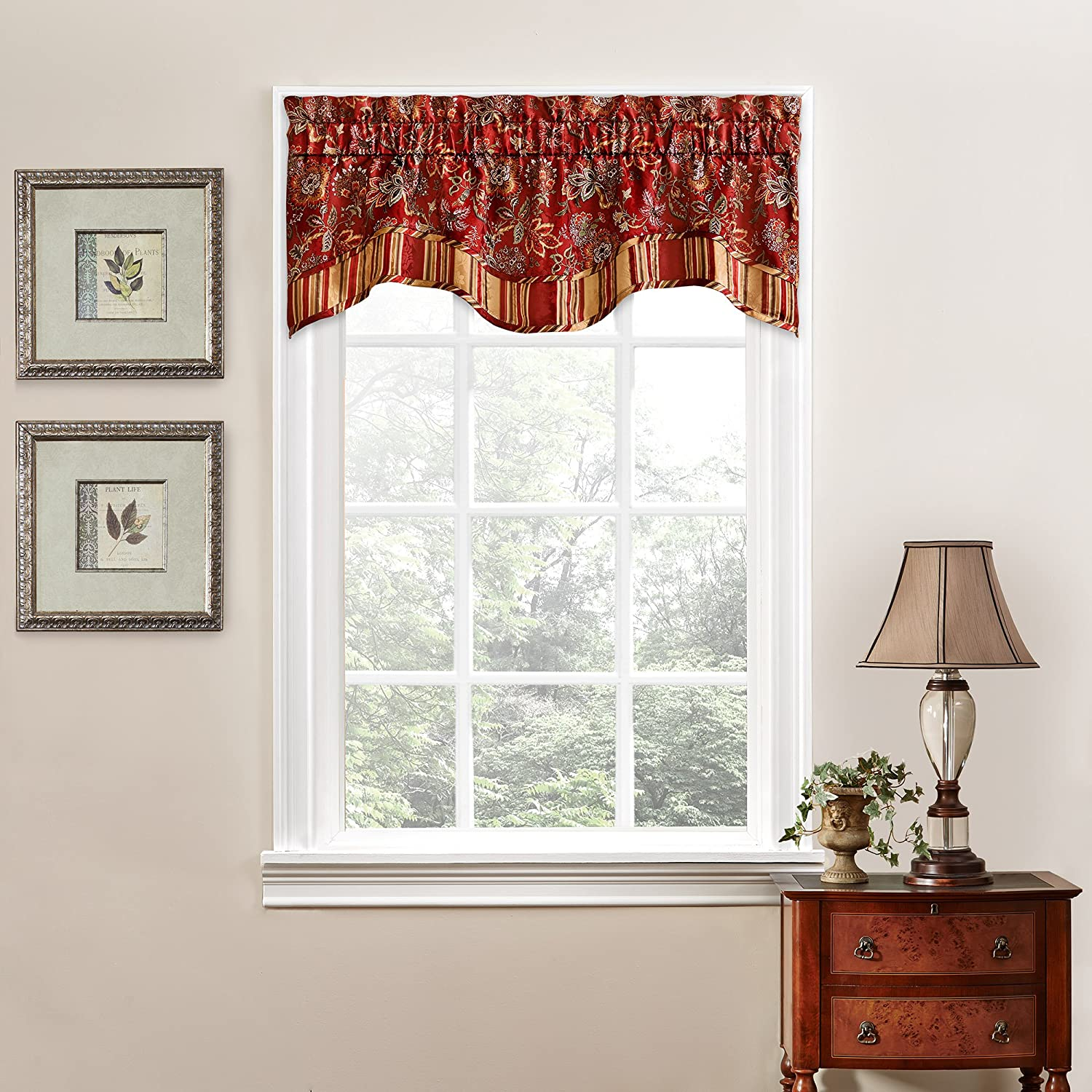 Floral window treatments sale ease bedding with style for Valance curtains for kitchen
