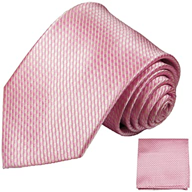 P.M. Krawatten Paul Malone Corbata de seda rosa (165cm extra ...