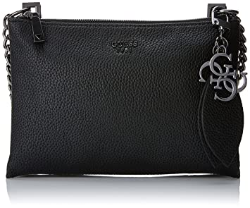 Damen Bags Hobo Umhängetasche, Schwarz (Black), 6.5x13x17 centimeters Guess