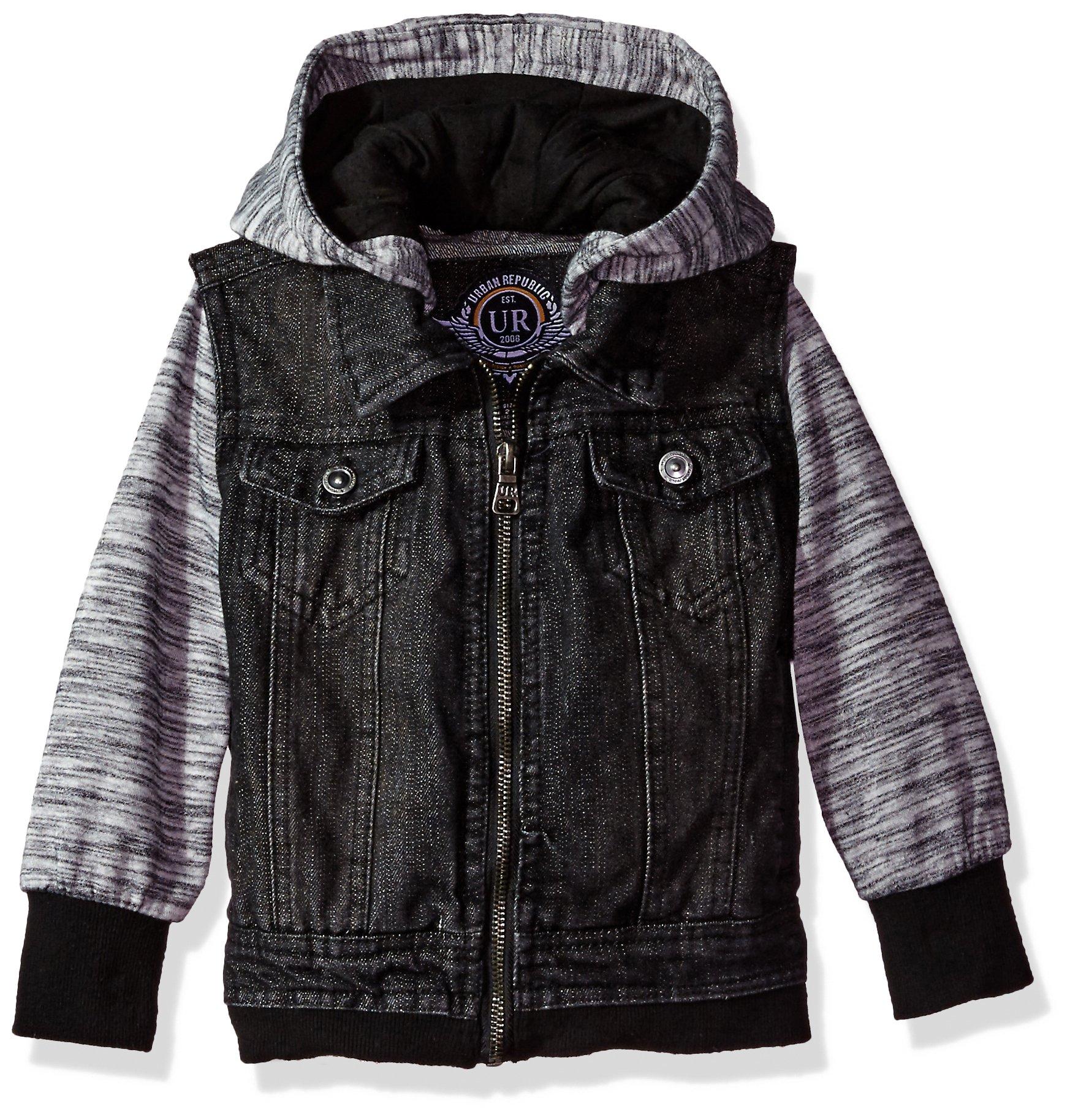 Urban Republic Toddler Ur Boys Cotton Denim Jacket, Black, 3T
