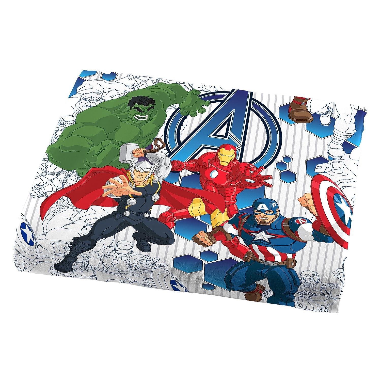 Avengers bedding twin - Amazon Com Marvel Avengers Blue Circle Sheet Set Twin Home Kitchen