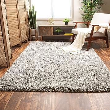 Amazon Com Super Area Rugs Ultra Fluffy Soft Handmade Shag Rug For Home Decor Non Skid Gray 5 X 7 Furniture Decor