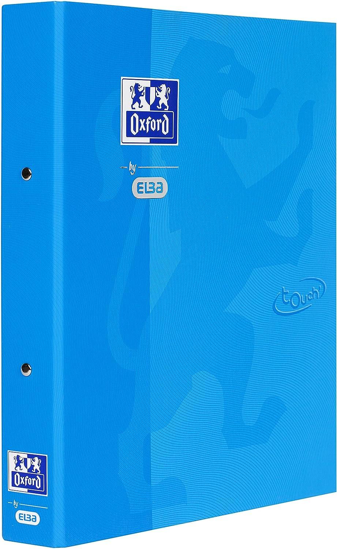 Oxford by Elba 400104070 archivador con Soft de superficie táctil, A4, lomo de DIN A4 breits 4 cm, de 2 anillas de rundmech Anik 30 mm, en el color azul ...