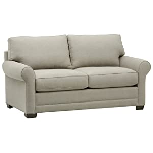 Stone & Beam Kristin Round Arm Performance Fabric Sofa, 76W, Stone