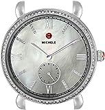 MICHELE Women's MW26A01A1046 Gracile Analog Display Swiss Quartz Silver Watch Head