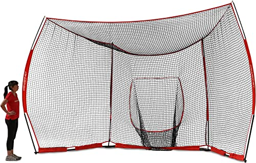 PowerNet Portable Baseball Backstop Large 16 Foot Wide