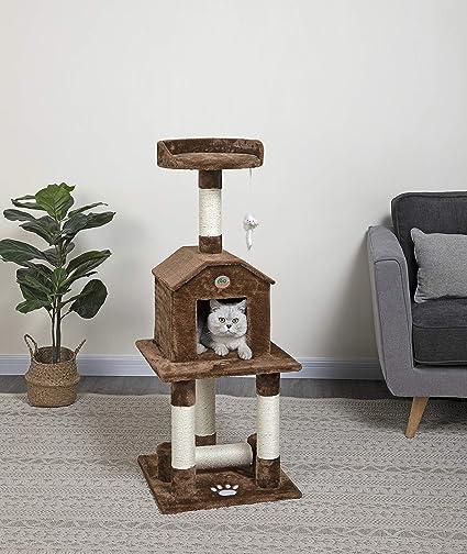 Go Pet Club 45 Inch Cat Tree Brown Pet Supplies