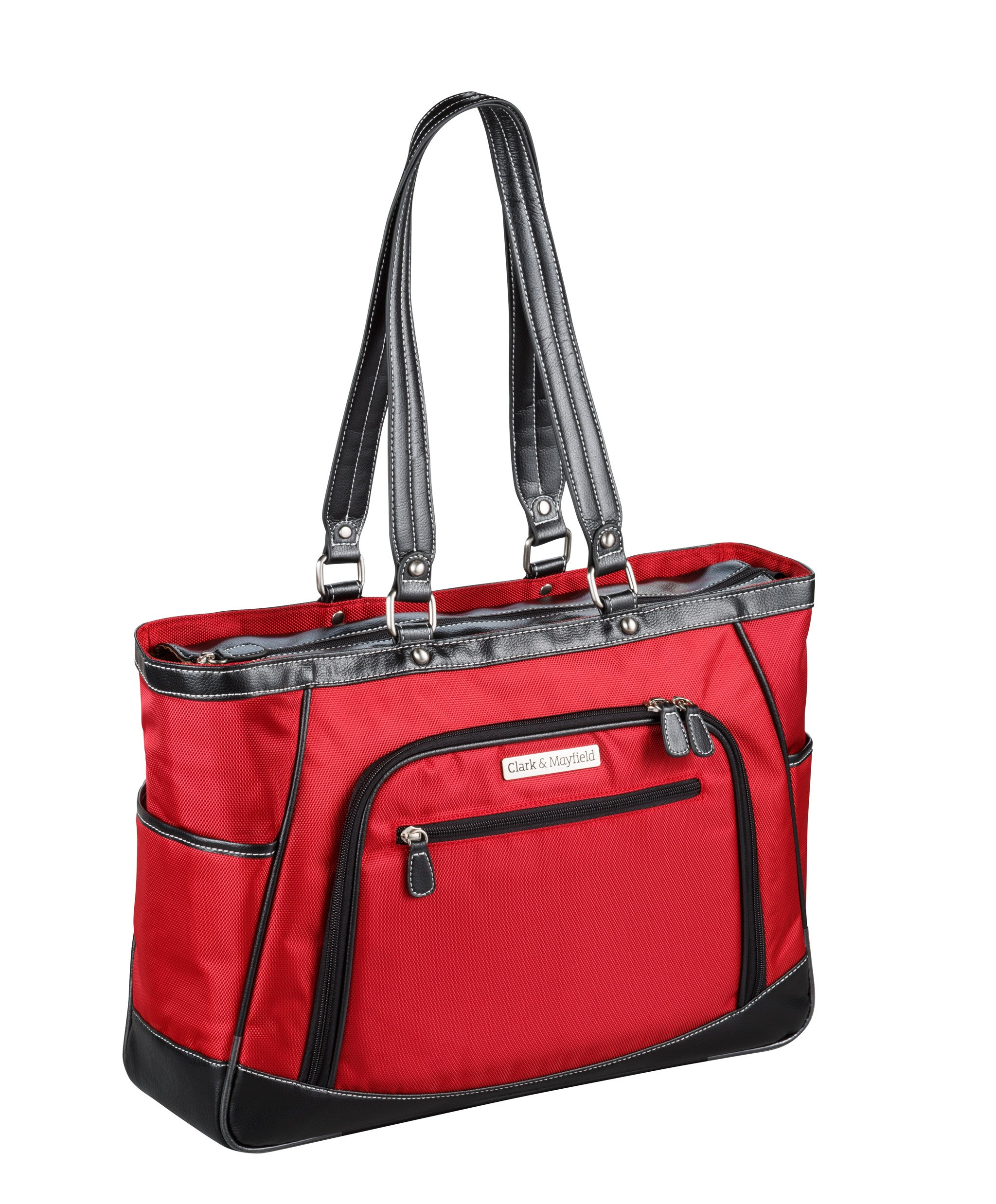 Clark & Mayfield Sellwood Metro XL 17.3'' Laptop Tote Red