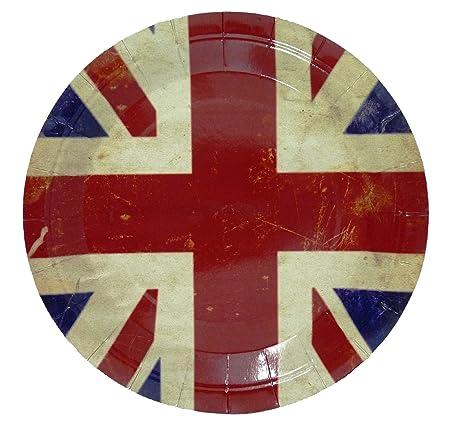 Union Jack Paper Plates pack of 6  sc 1 st  Amazon UK & Union Jack Paper Plates pack of 6: Amazon.co.uk: Kitchen u0026 Home