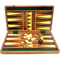 Ages Behind Wooden Backgammon 16""