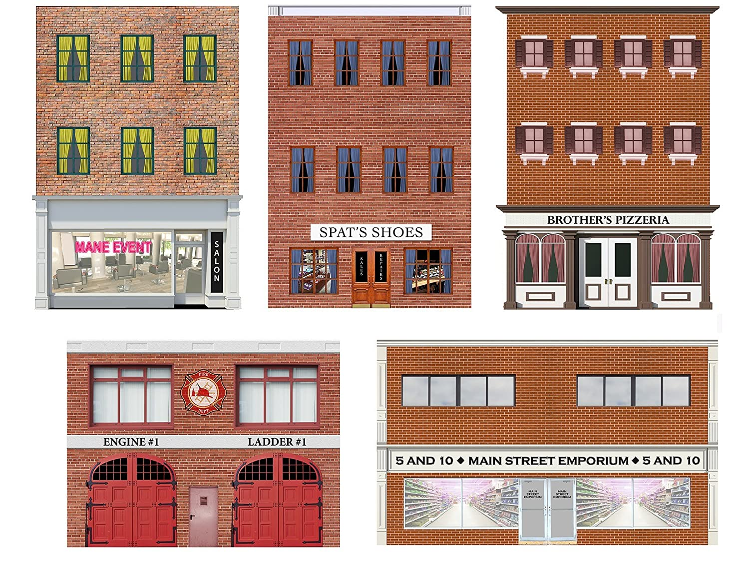 image relating to Printable Model Railroad Buildings named Landscapes Sheets Type Educate HO Scale Storefronts and Rears
