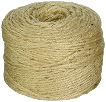 300' Feet 2 Ply Natural Sisal Twine, Strong and Durable