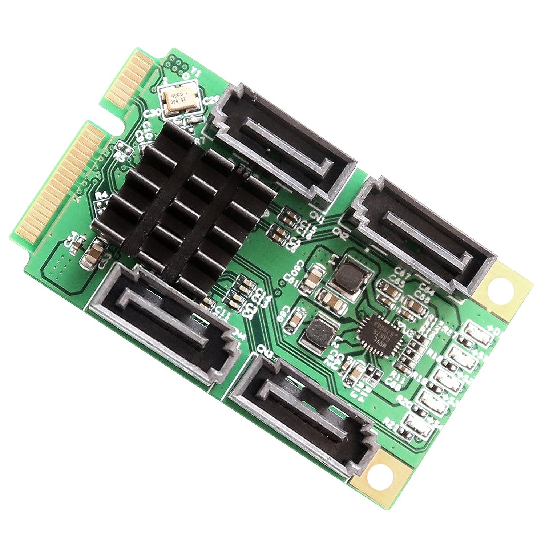 /Verde IO Crest 4/Puertos SATA 6.0/Gbps III Mini PCI-Express Tarjeta controladora/