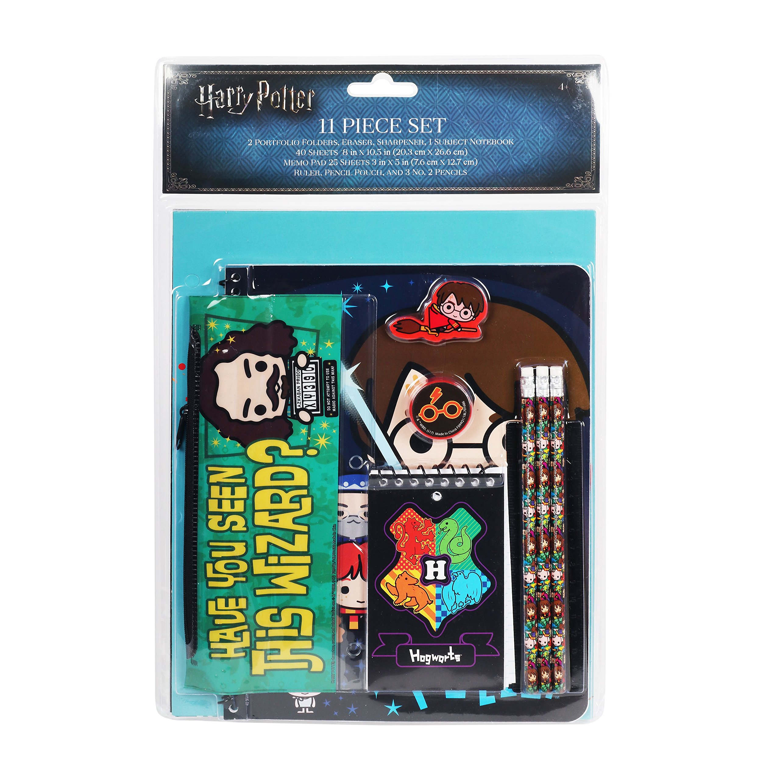 Harry Potter Chibi Stationery Set School Supplies for Kids / 11 Pieces
