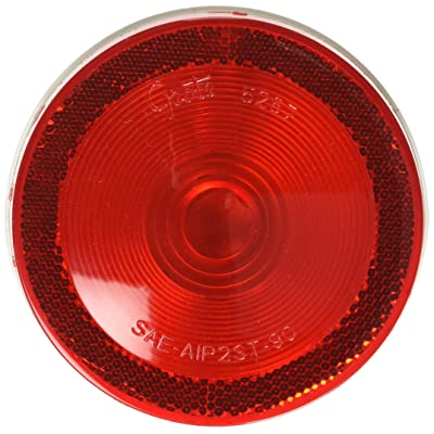 "Grote 52682 Red Torsion Mount II 4"" Stop Tail Turn Light, (52672 + 91740 + 67000): Automotive"