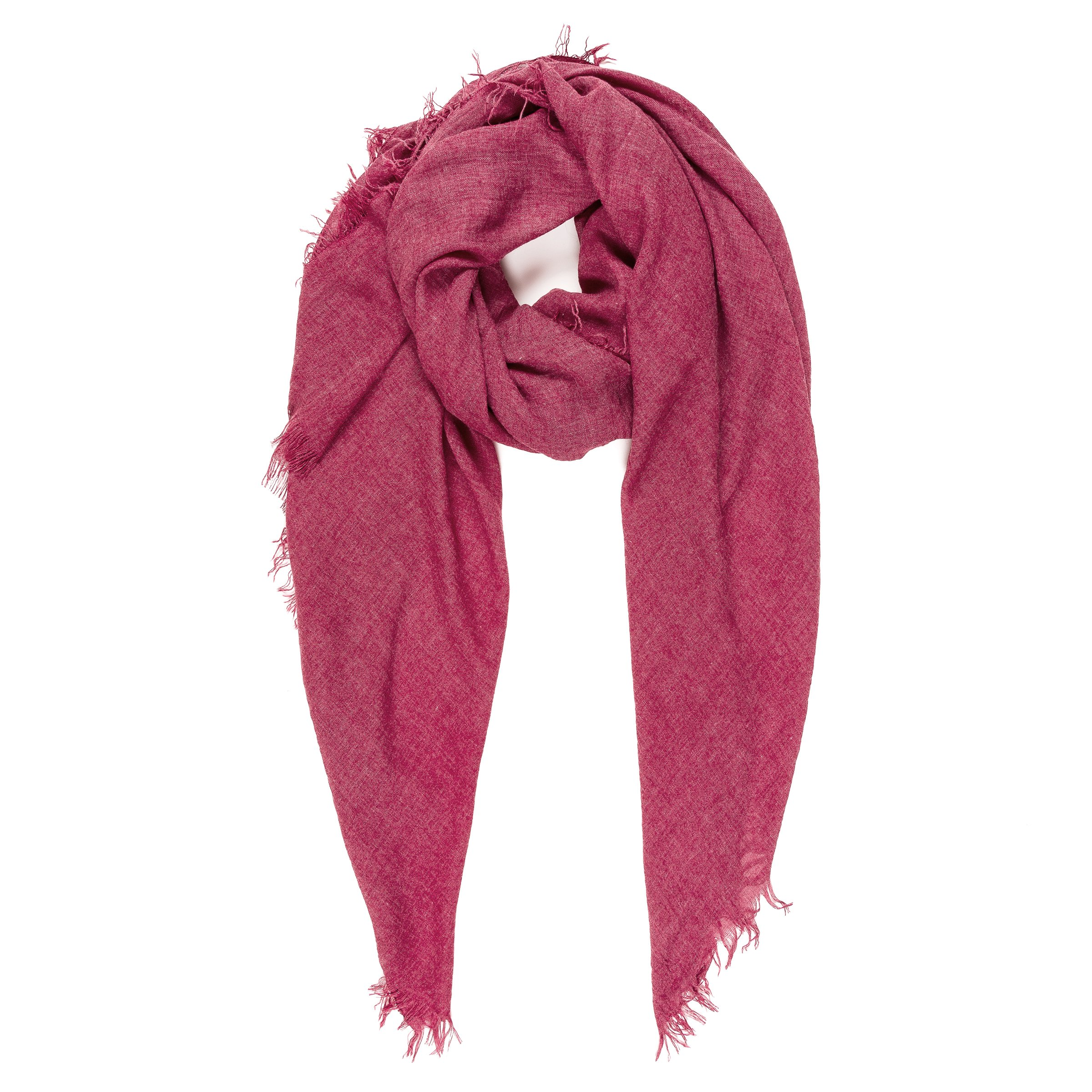 Scarves for Women: Lightweight Elegant Solid colors Fashion Scarf by MIMOSITO (Maroon Red)
